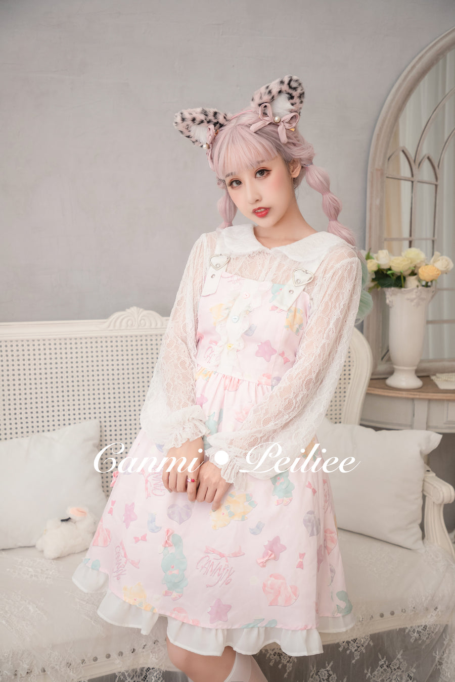 [Canmi Design] For Bear And Bunny Sweet JSK Dress - Peiliee Shop