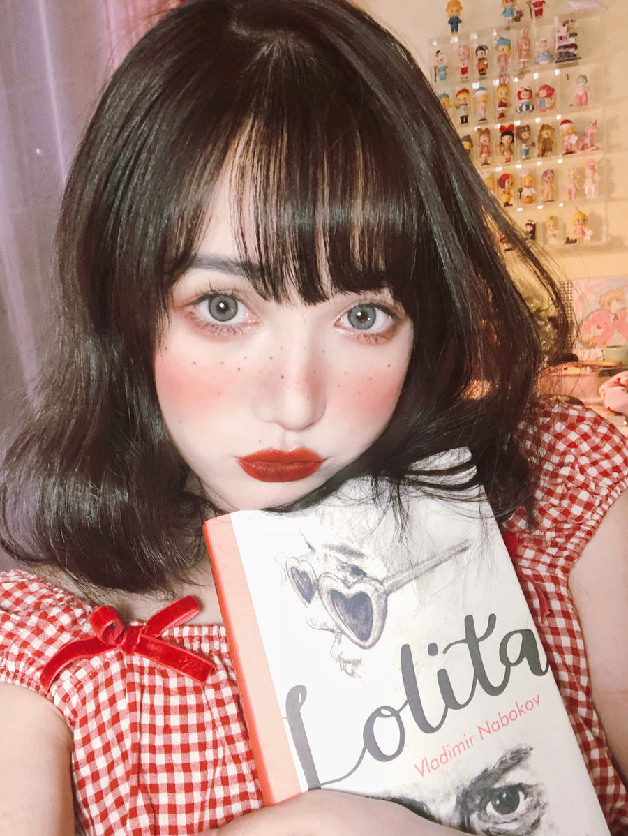 [12 Studio] Lolita 1997 Vintage Strawberry Gingham Top - Peiliee Shop
