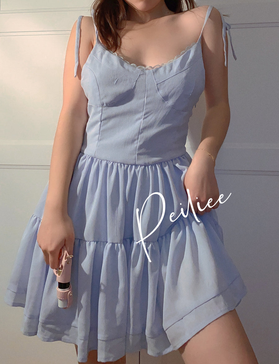 Blue Serenade Mini Dress - Peiliee Shop