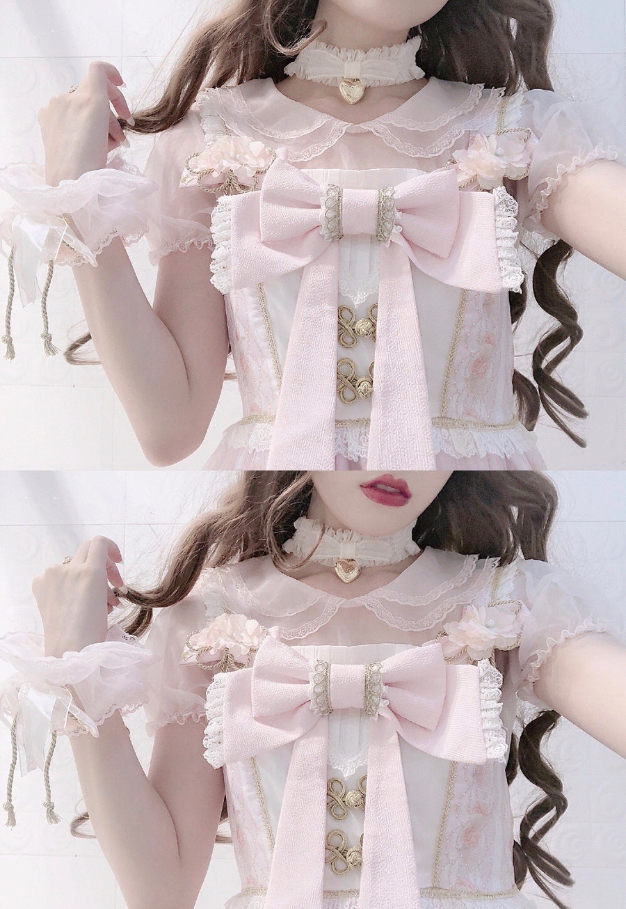 [2020 New Fabric] Yuki Hime Double Collar Pastel Blouse (Designer Canmi) - Peiliee Shop