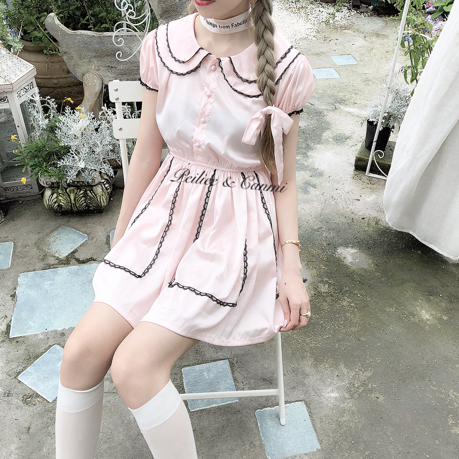 [From Sweden] Babydoll Yvette Vintage Ballerina Dress - Peiliee Shop