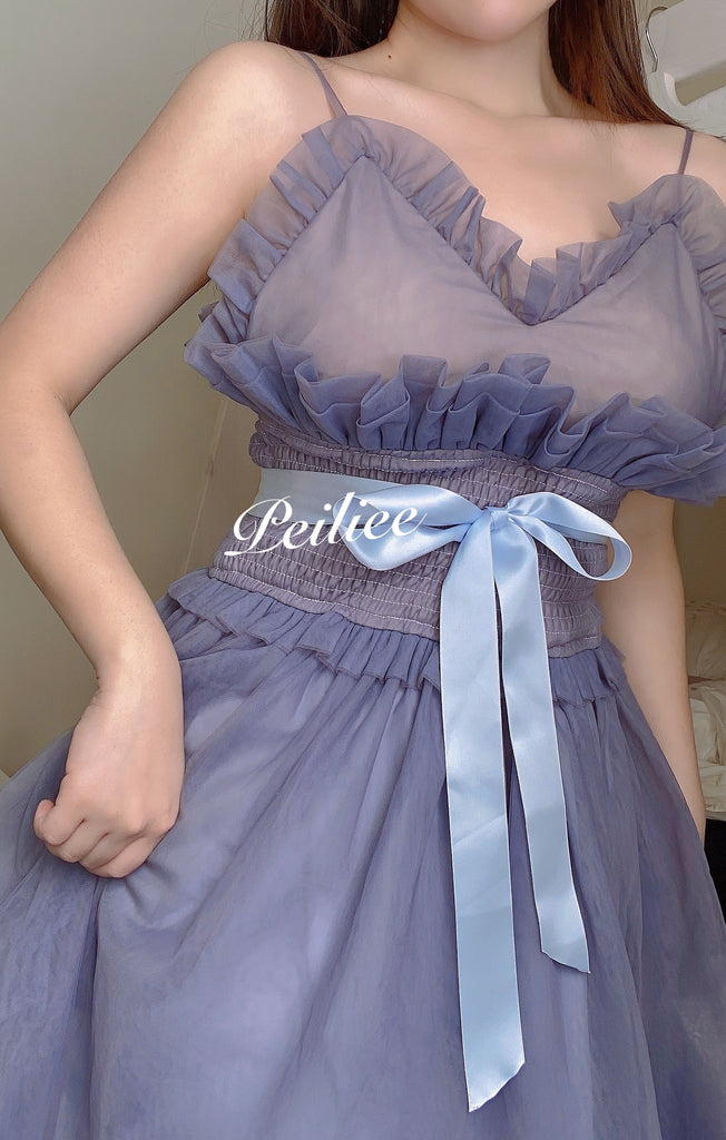 [Premium Selected] Iris Pallida Lam Lavender Dress - Peiliee Shop
