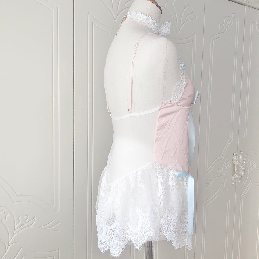 [Handmade Lingerie] Peach Melody Lace Top
