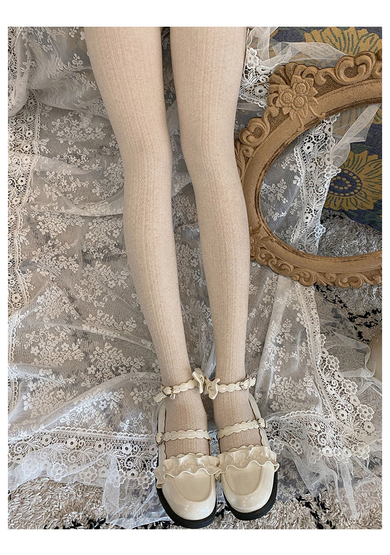 [Petite] Winter Must Have! Vintage Doll Comfy Thick Stocking - Peiliee Shop