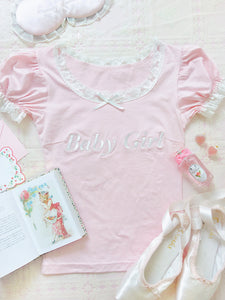 [Peiliee 3 Years Anniversary + Special Gift] Min Sötnos Sweet Babydoll Larme Cotton Top - Peiliee Shop