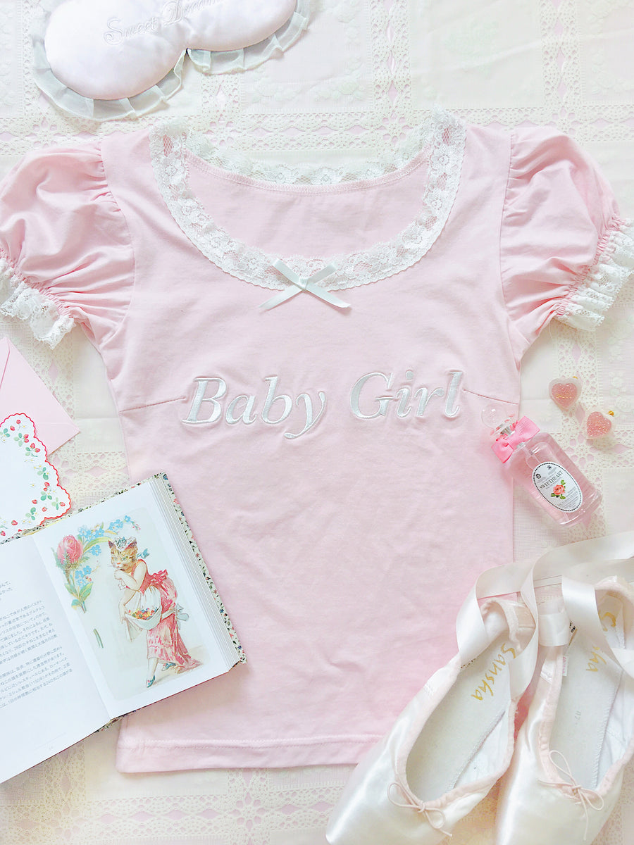 [Peiliee 3 Years Anniversary] Min Sötnos Sweet Babydoll Larme Cotton Top - Peiliee Shop