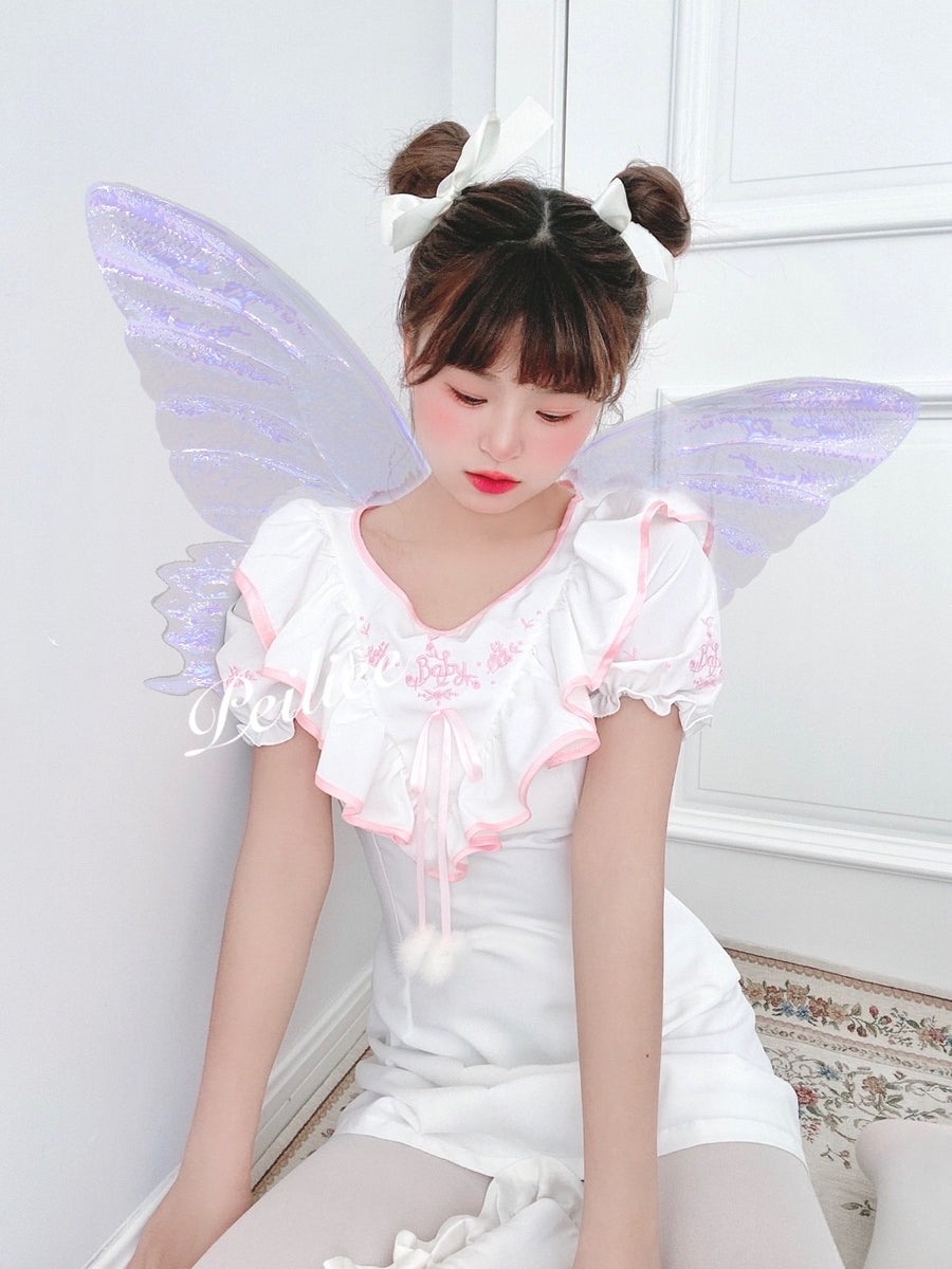 [Exclusive to PeilieeShop] Cocos Mousse Baby doll dress - Peiliee Shop
