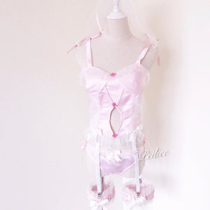[Peiliee SSS Limited] Sakura Fairy Babydoll Angelic Lingerie Set Can Be Customized - Peiliee Shop