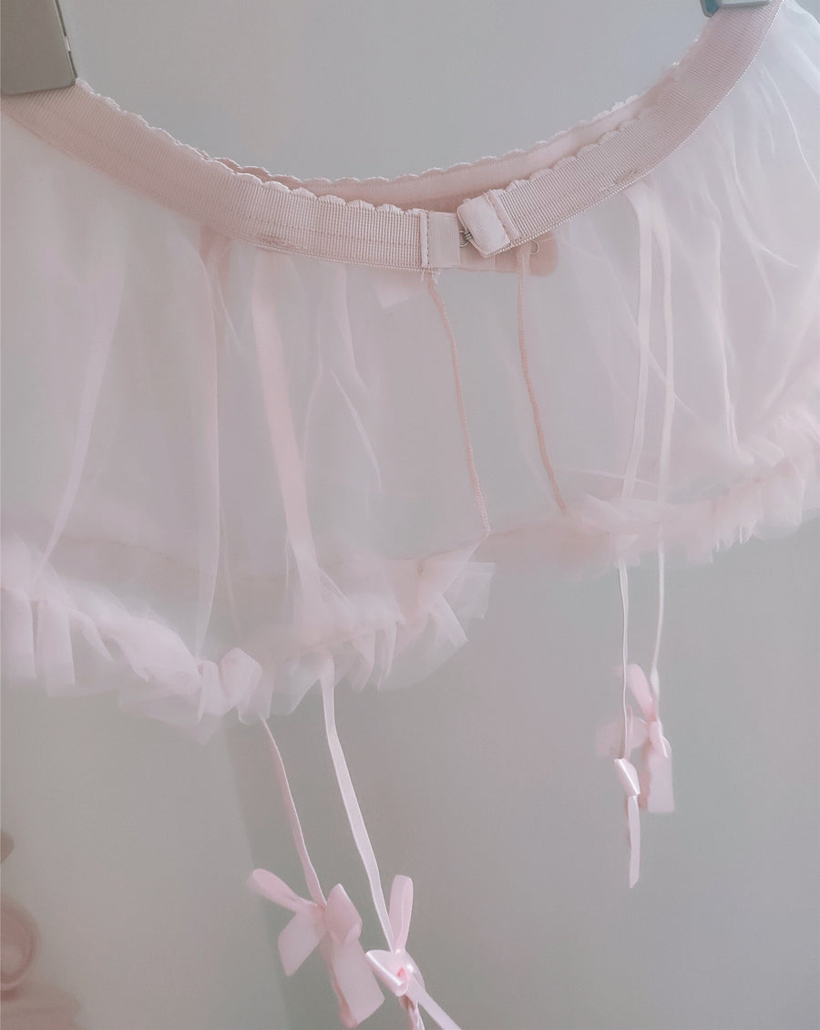 Peach Angel Petticoat Garter - Peiliee Shop