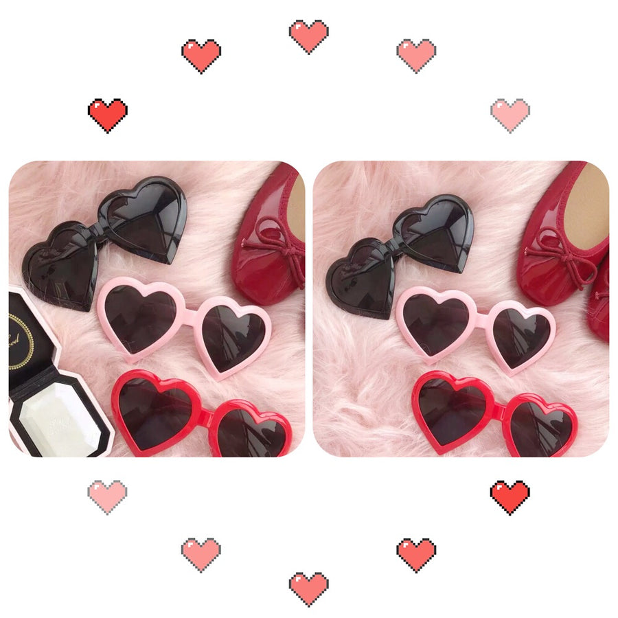 My Little Fairy Heart Sunglasses - Peiliee Shop