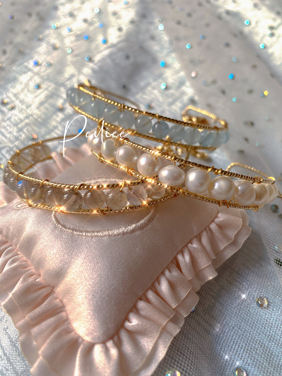 [Handmade Jewelry] The crystalline palace bracelet set - Peiliee Shop