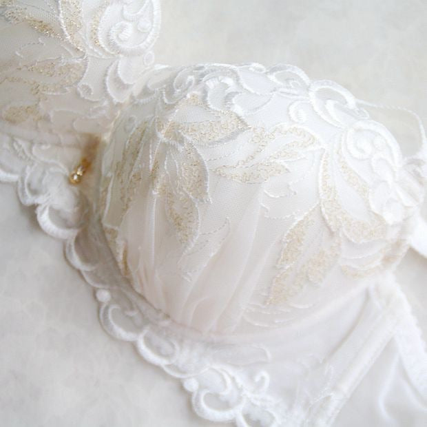 [Up to H Cups] The Angel Wings Lace Bra - Peiliee Shop