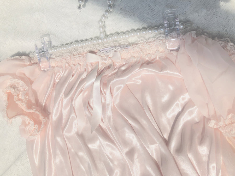 Peach princess in my closet satin dress - Peiliee Shop