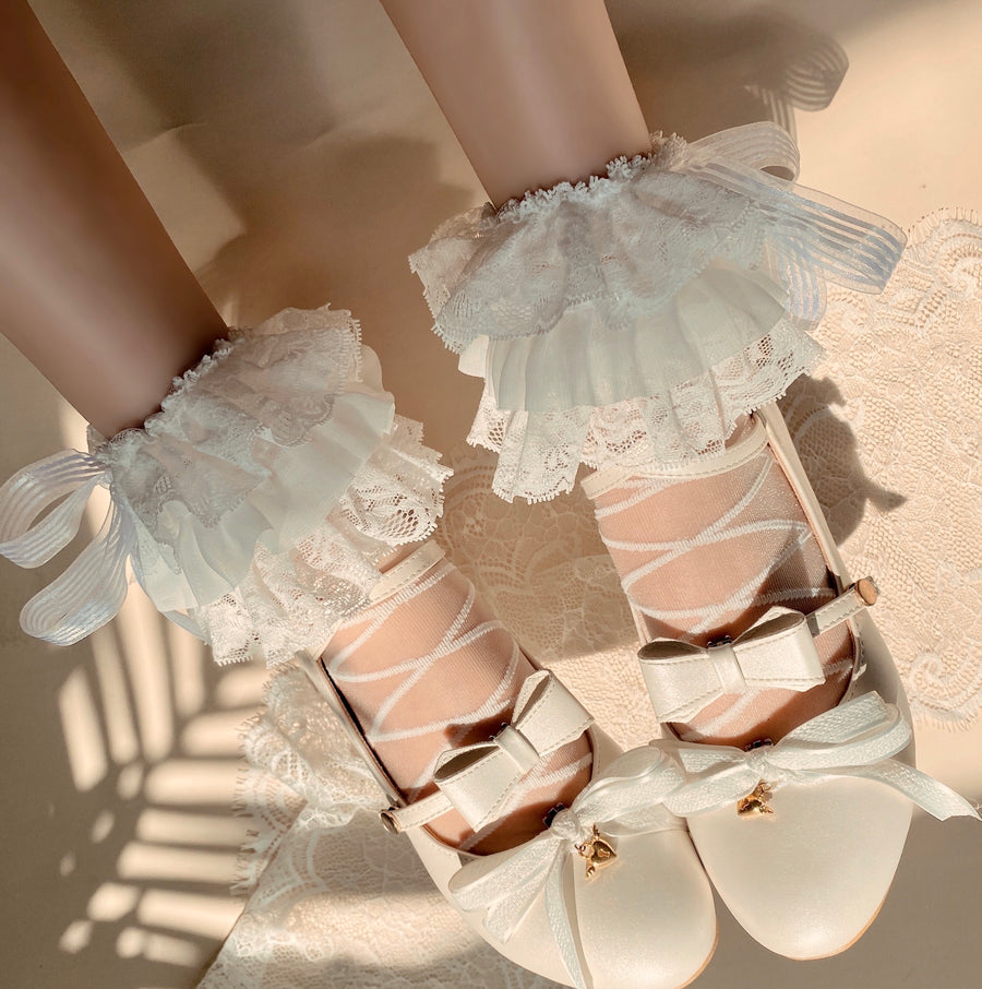 Ballerina Dream handmade lace socks - Peiliee Shop