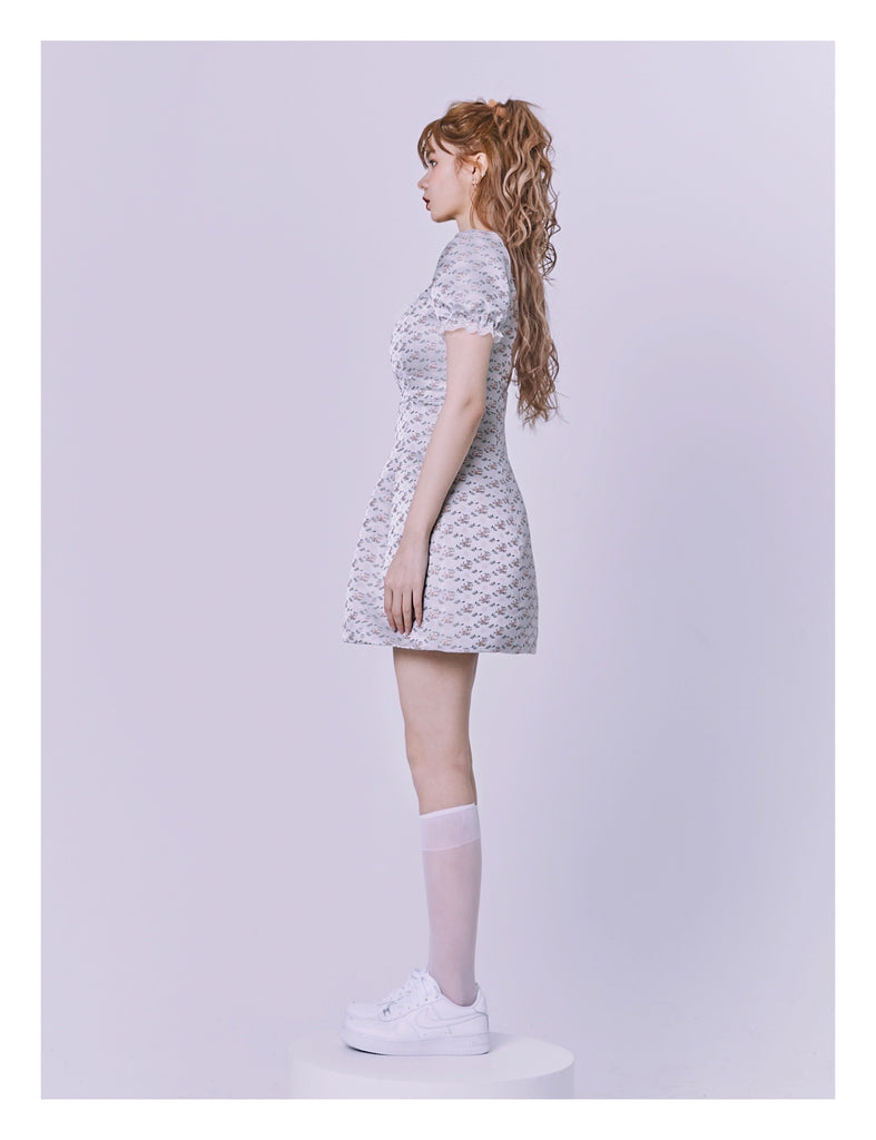 [Nakiss Limited Edition] The mystery garden mini dress - Peiliee Shop
