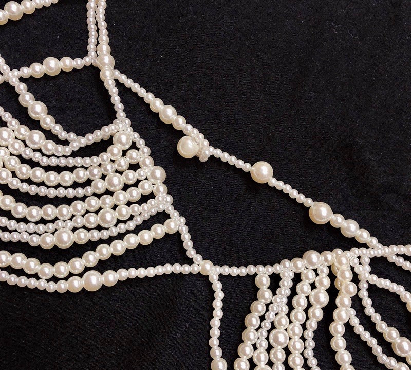 Mermaid Memory Handmade Pearl Bra Body Chain - Peiliee Shop