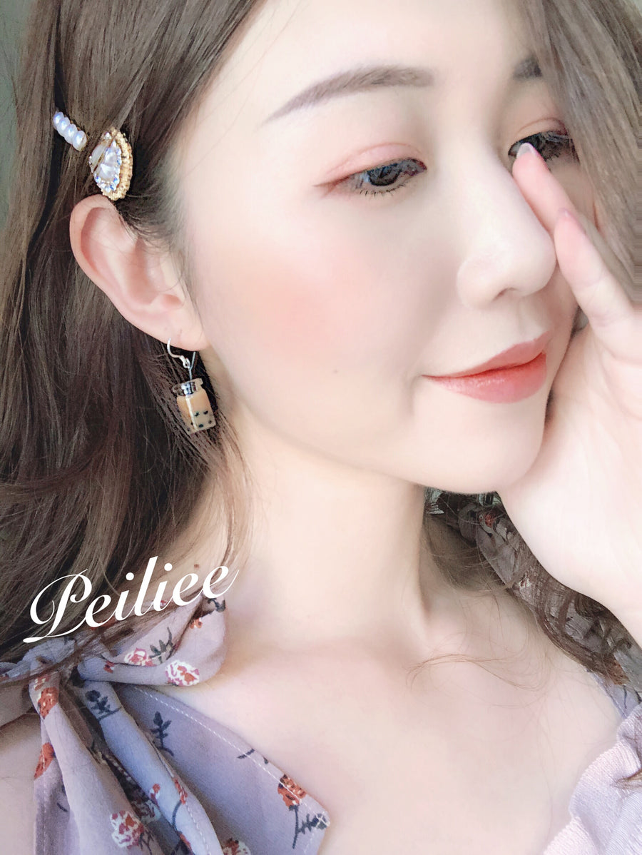 Boba Tea Silver Earring - Peiliee Shop