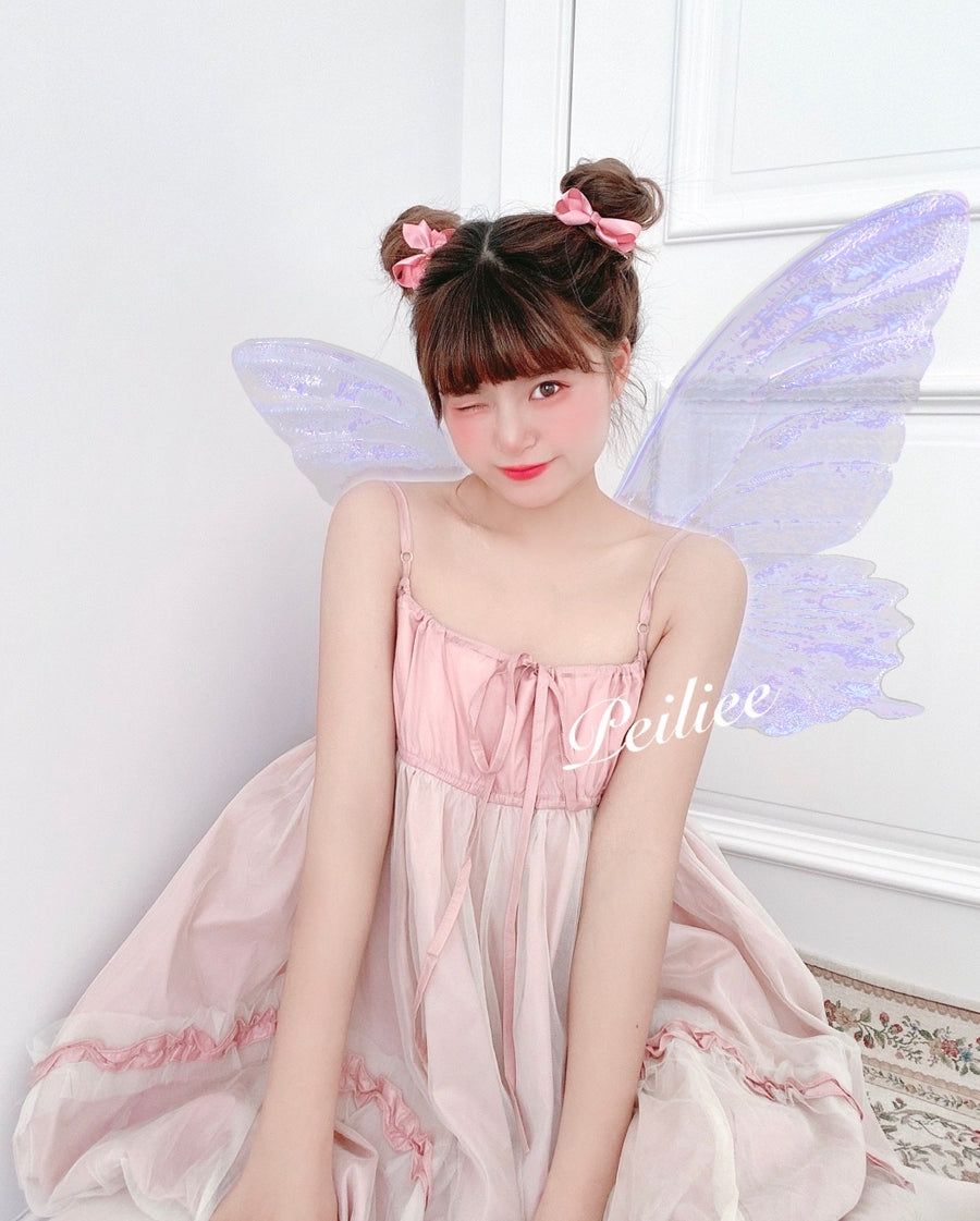 [Exclusive to PeilieeShop] Escaped Bunny In Peach Flower Garden Dress (designer Arilf) - Peiliee Shop