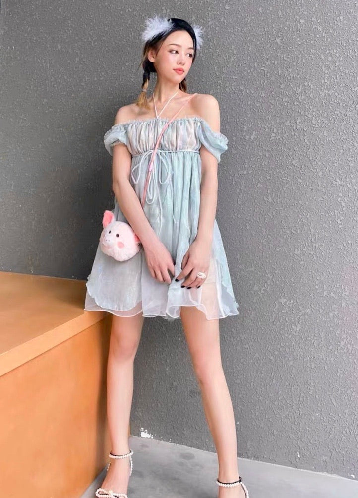 [Premium Selected] Mermaid Bubble Mini Dress - Peiliee Shop