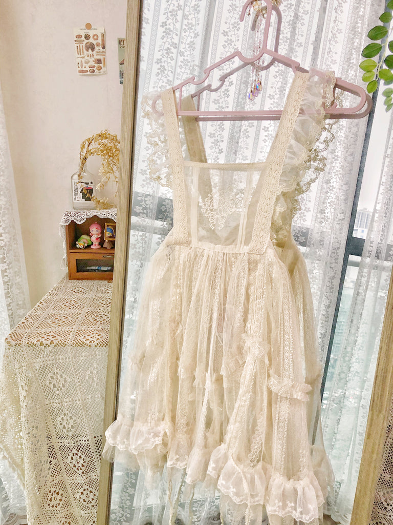 [Premium Selected] Alice girl in dream land lace apron - Peiliee Shop