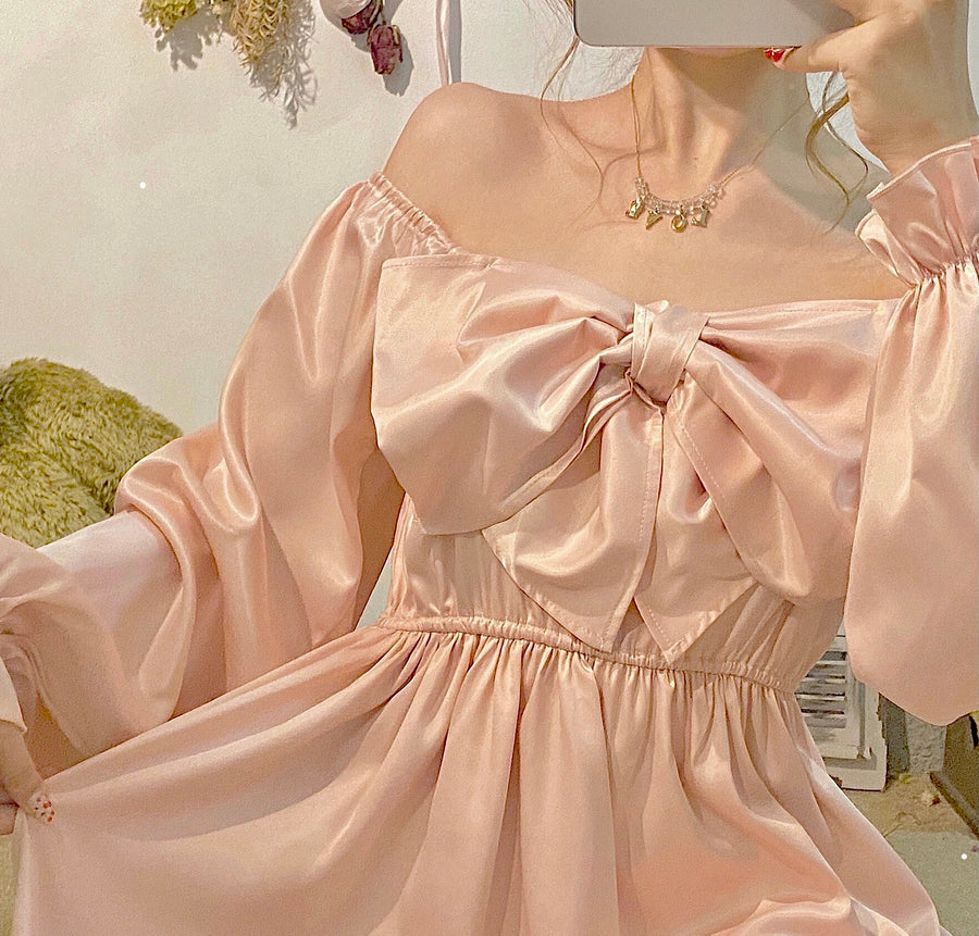 [2020 Christmas Edition] Kiss Me Softly Satin Dress (Designer Canmi)