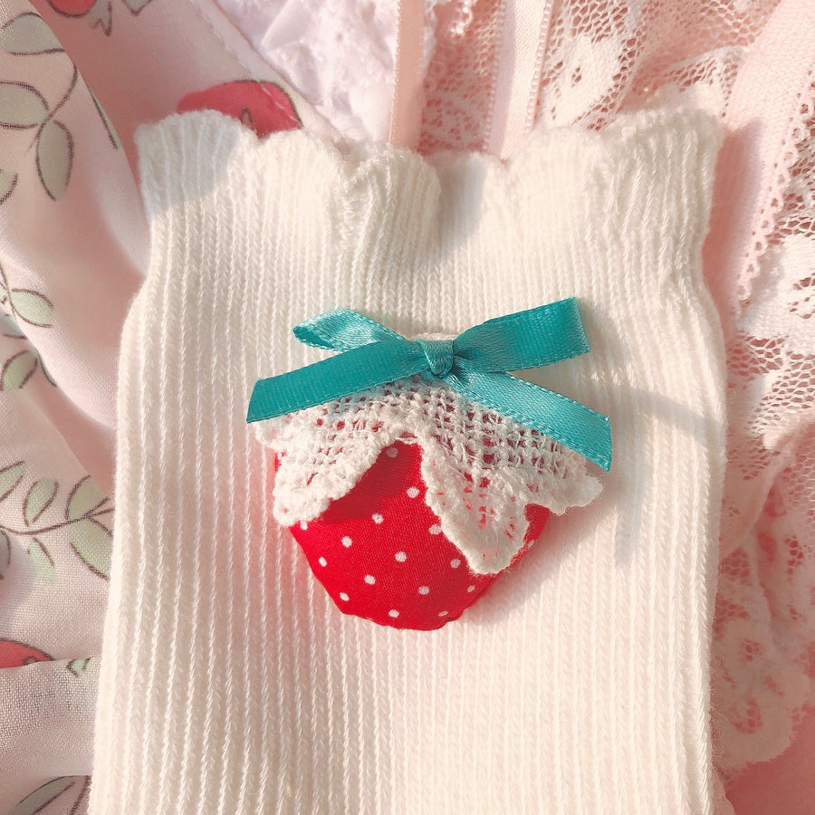 Oh it's a strawberry on my socks - Peiliee Shop