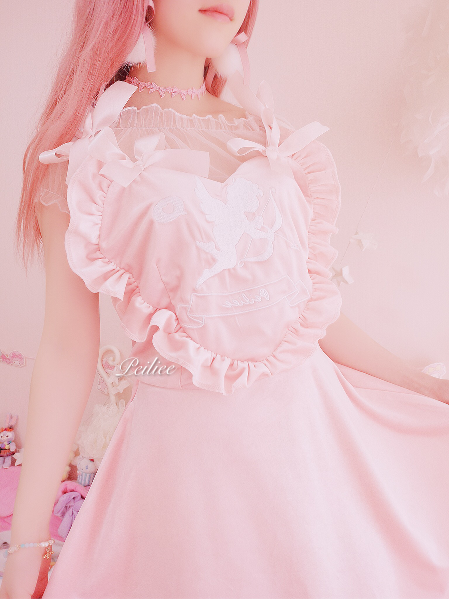 Peiliee 2 Years Anniversary The Dreamy Lolita Velvet Dress And Cotton Dress Set