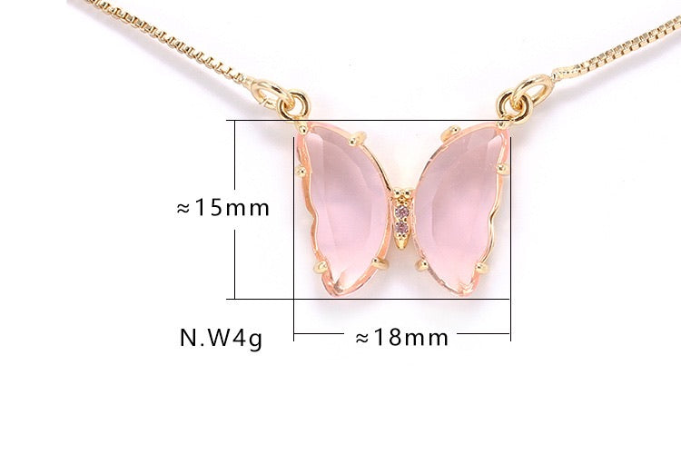 [Premium Version] Crystal Dream 18k Gold plated Butterfly necklace - Peiliee Shop