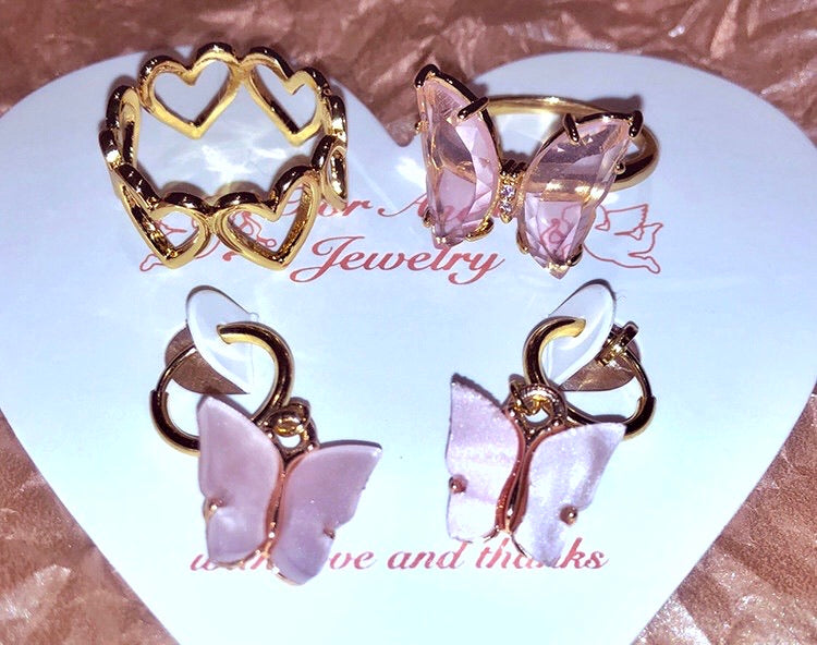Crystal Dream Butterfly Ring - Peiliee Shop