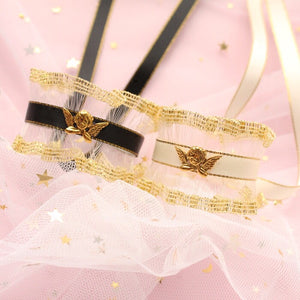 Angel Falling in my fairy garden vintage rococo golden angel hairpin - Peiliee Shop