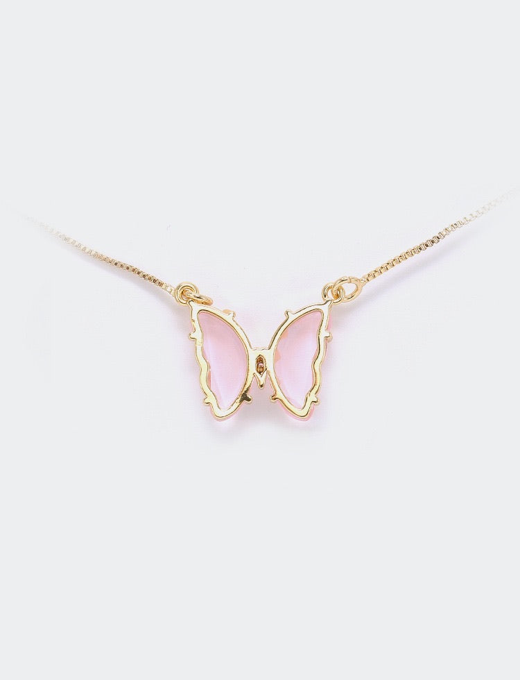 Crystal Dream 18k Gold plated Butterfly necklace - Peiliee Shop