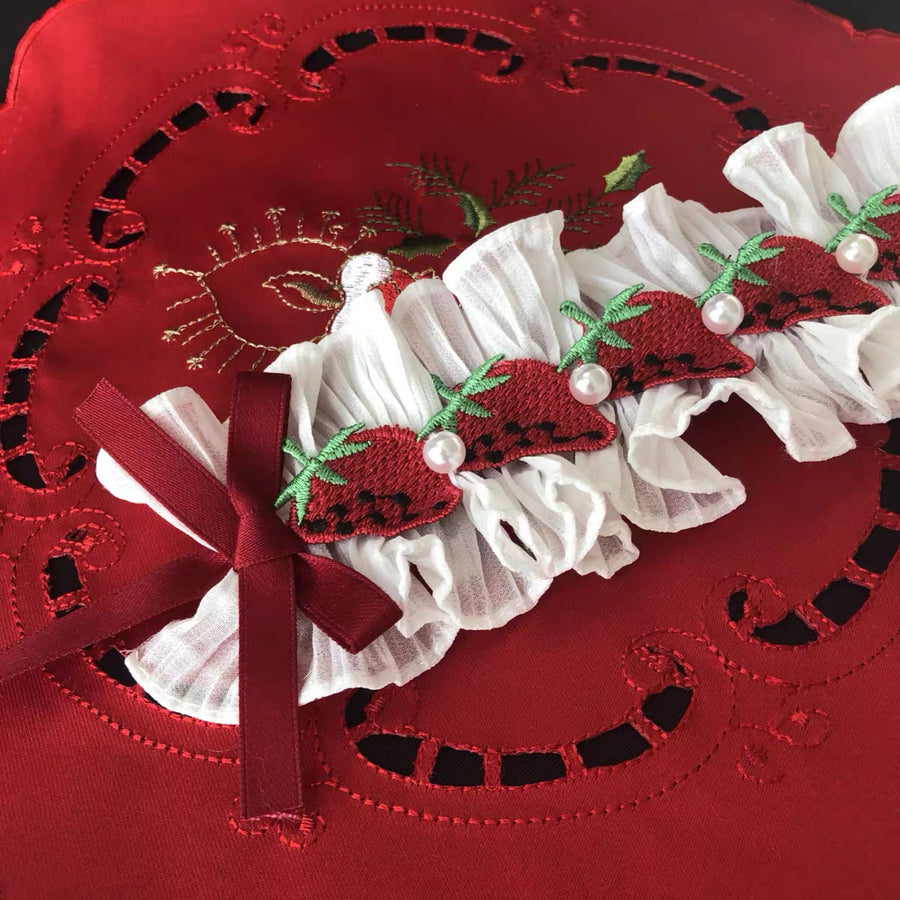 Handmade Strawberry Lolita Fashion Hairband - Peiliee Shop