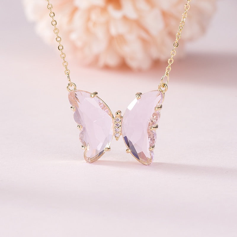 [Basic] Crystal Dream Butterfly necklace - Peiliee Shop