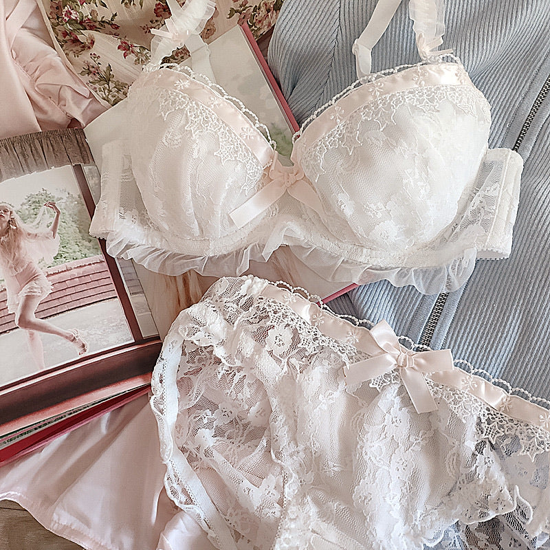 Angel Ribbon for stars and roses Bra Set - Peiliee Shop