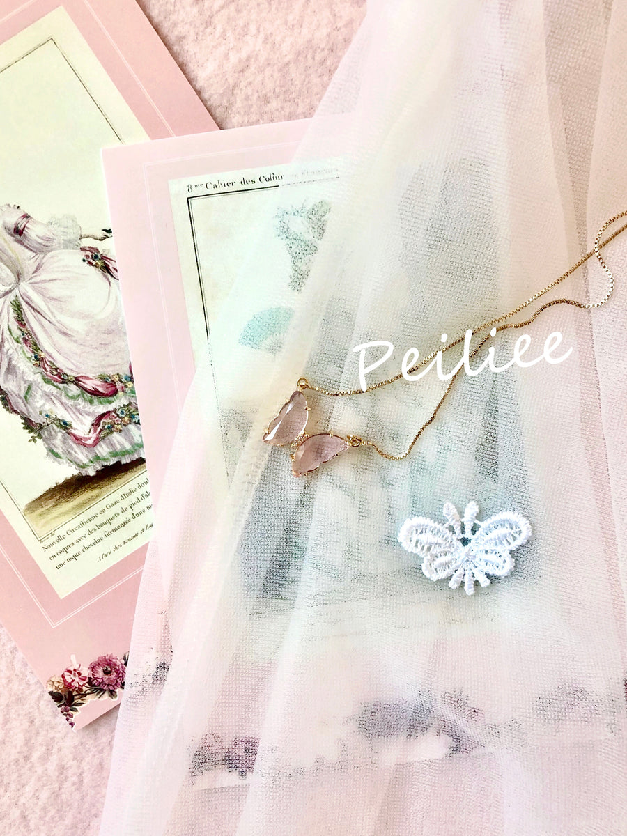 Crystal Dream 18k Gold plating Butterfly necklace - Peiliee Shop