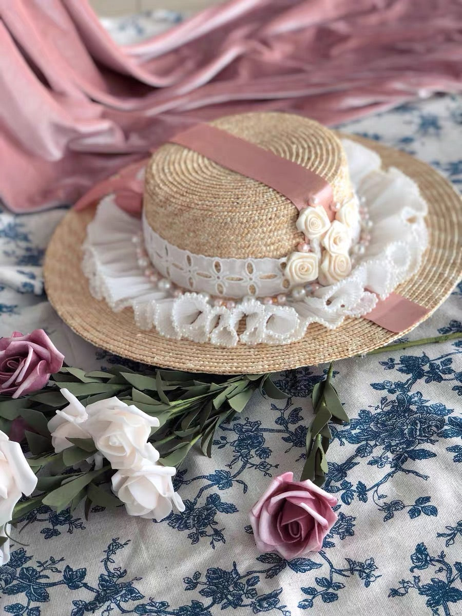 The blooming Versailles Rose Garden Straw Hat - Peiliee Shop