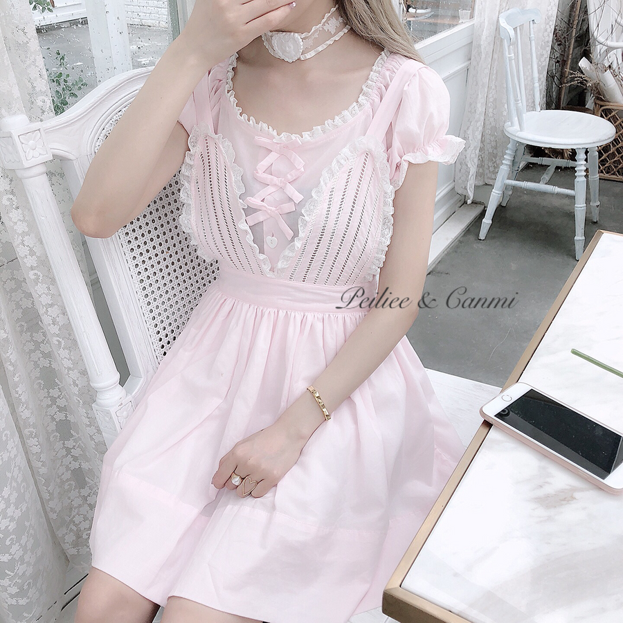 Nanami Bunny Dream Cotton Dress - Peiliee Shop