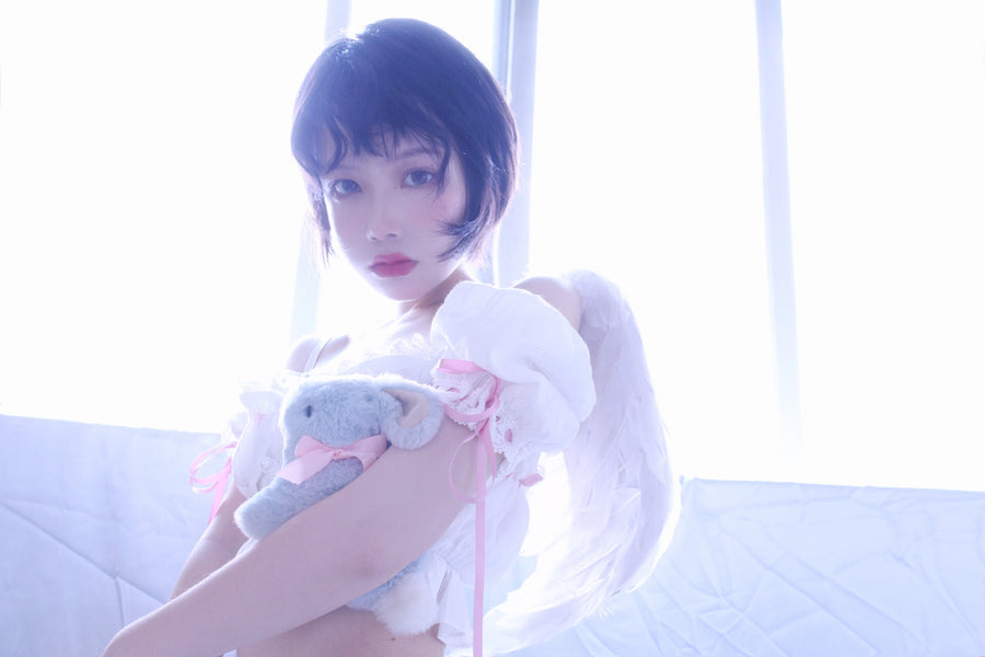 [Premium Selected] Shy Rose Angelic Babydoll Set - Peiliee Shop