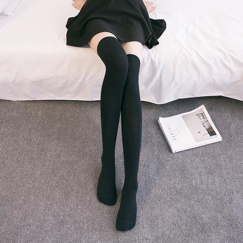 Jk High School Girl OverKnees Socks - Peiliee Shop