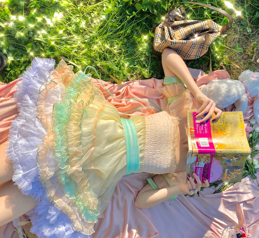 [Premium Selected Limited Edition] Rainbow Candy Fairy Dress