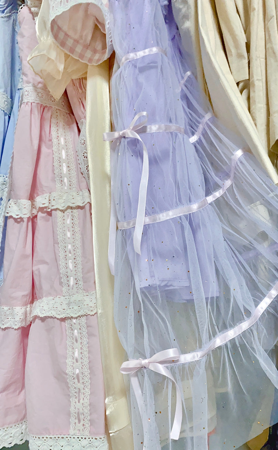 [12 Studio] Lavender Kiss Romantic Yarn Dress - Peiliee Shop