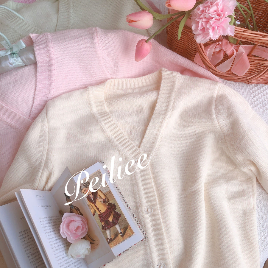 [By Peilieeshop] The Dancing Swan Soft Cardigan - Peiliee Shop