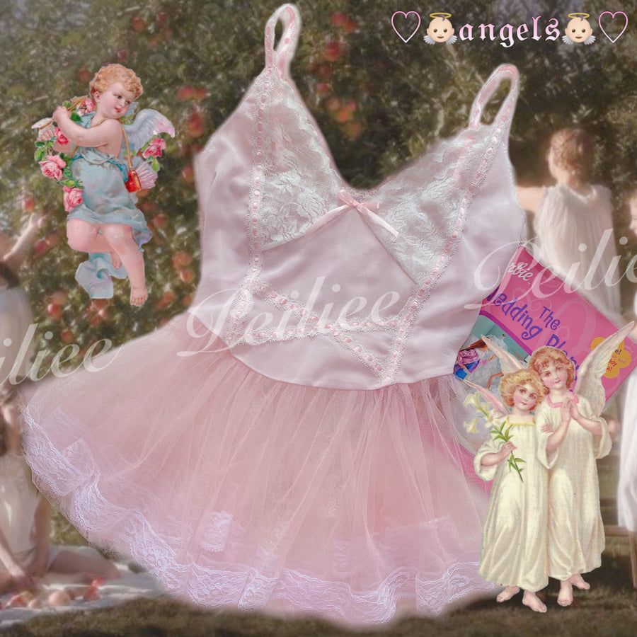 [Customized Tailor Made] Bless Her Heart Pastel Sakura Lingerie Dress - Peiliee Shop