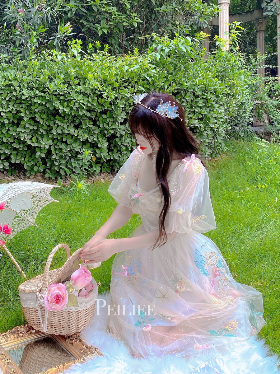[Peiliee x Summer] Song of the angels off-shoulder dress - Peiliee Shop