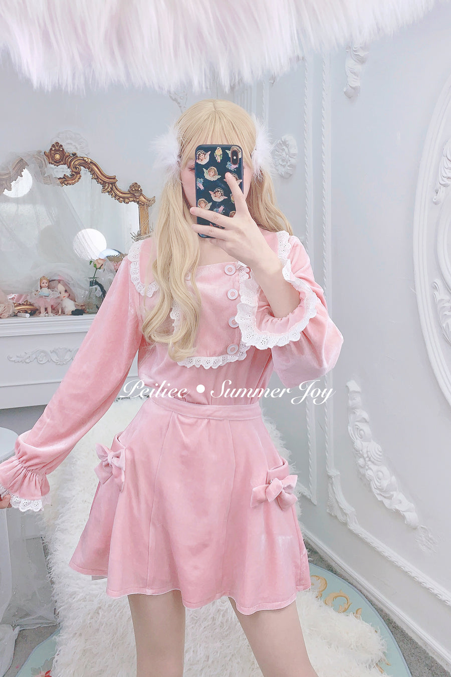 [Limited Edition] Princess Angelina velvet dress set - Peiliee Shop