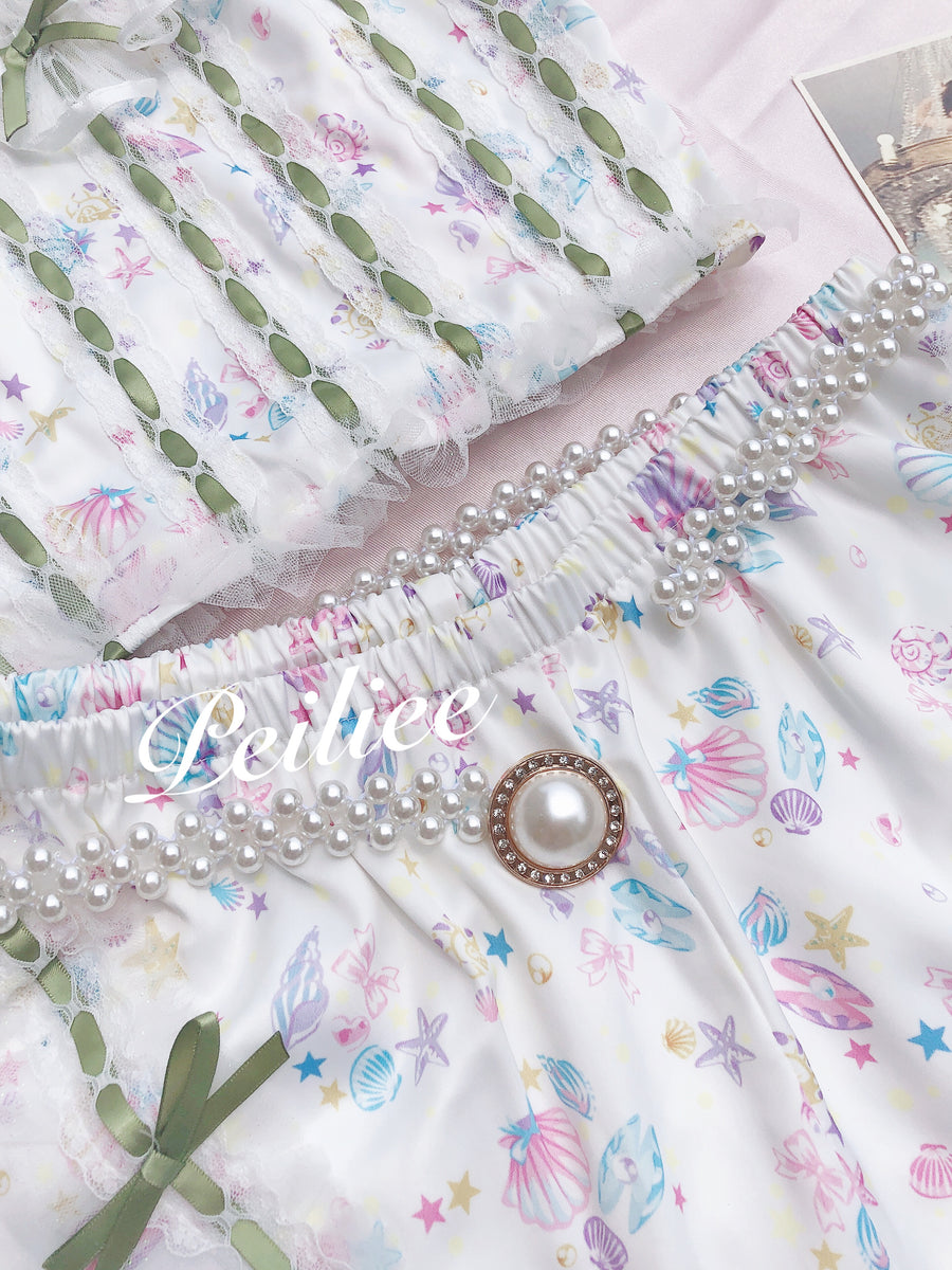 Pearly Mermaid Vintage Belt - Peiliee Shop