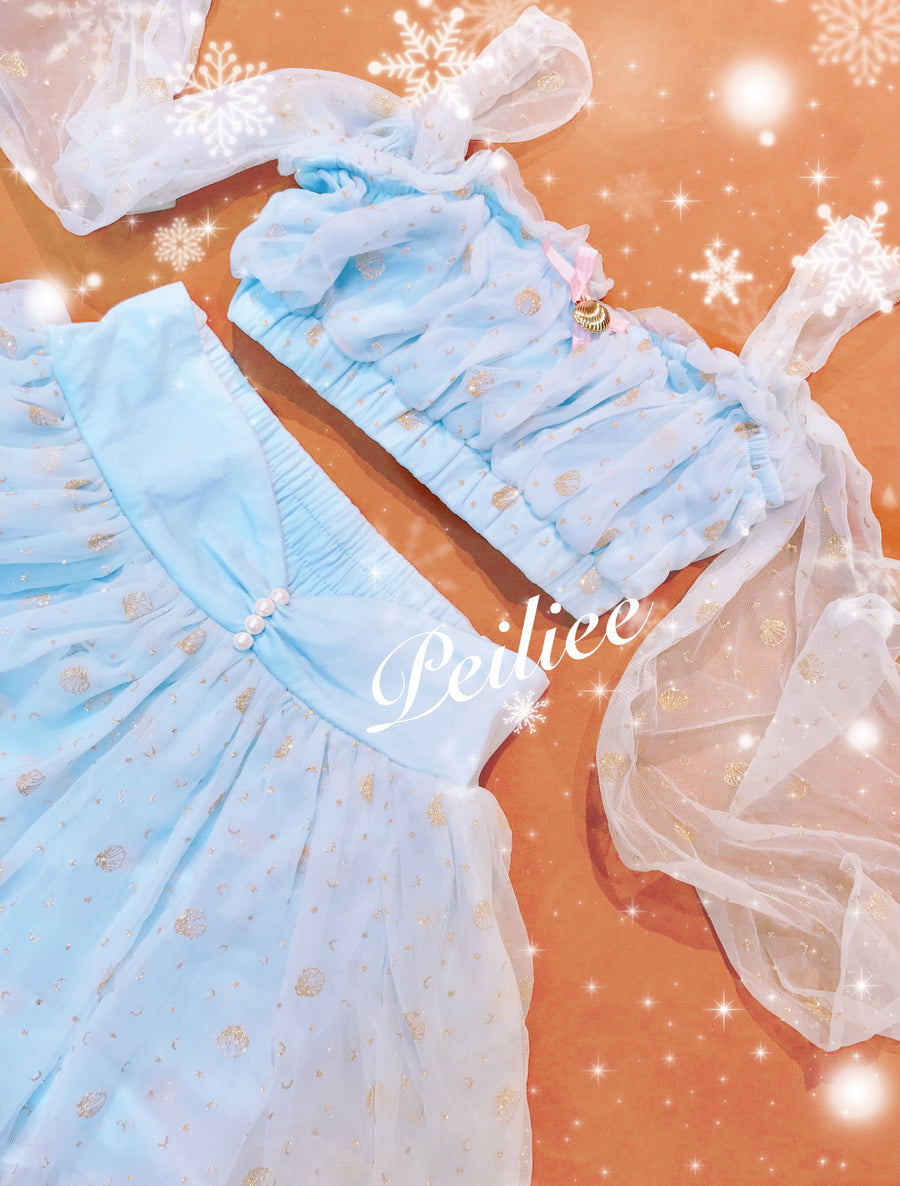 [New Version] Fantasy mermaid glitter dress - Peiliee Shop