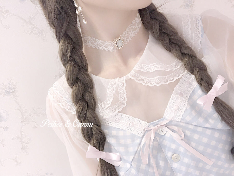 [2020 New] Yuki Hime Double Collar Pastel Blouse - Peiliee Shop