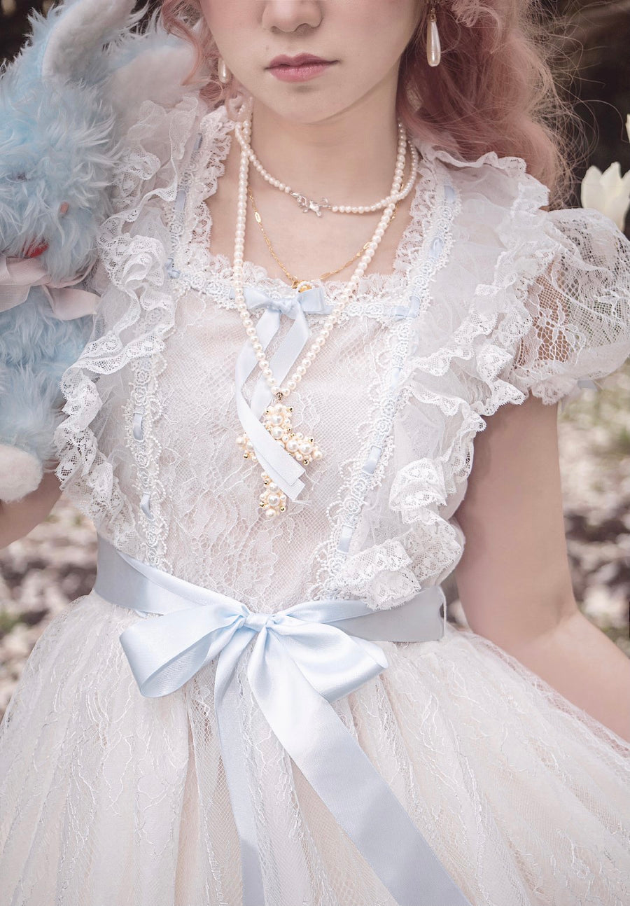[Premium Selected] Le Flacon Twin Princess Lace Vintage Dress - Peiliee Shop