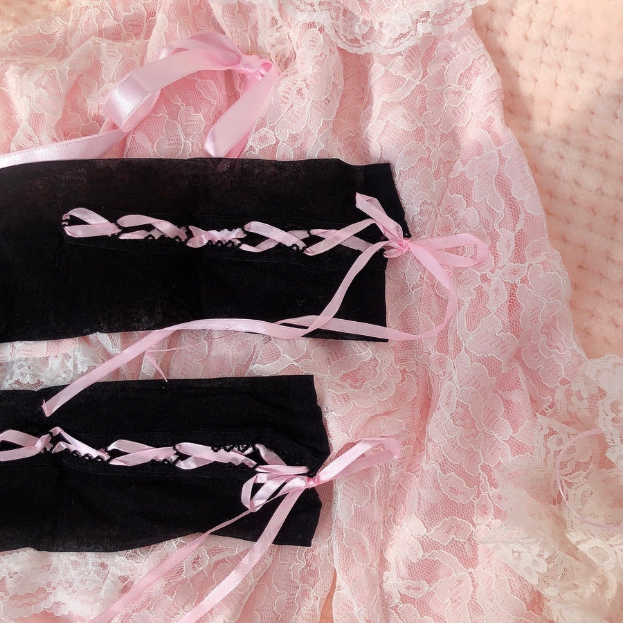 Sleepy Doll Ribbon Stockings Over-knee Socks - Peiliee Shop